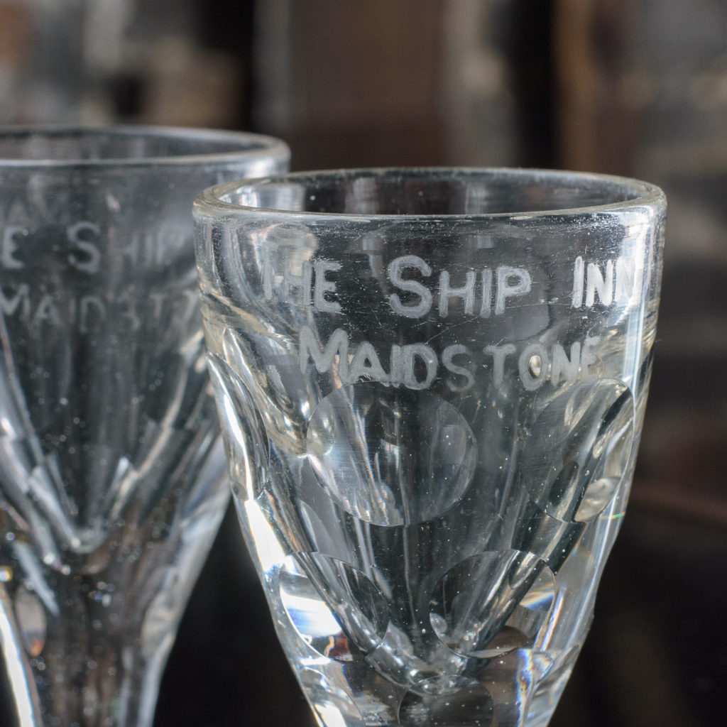 Matched pair of toasting glasses,-112112