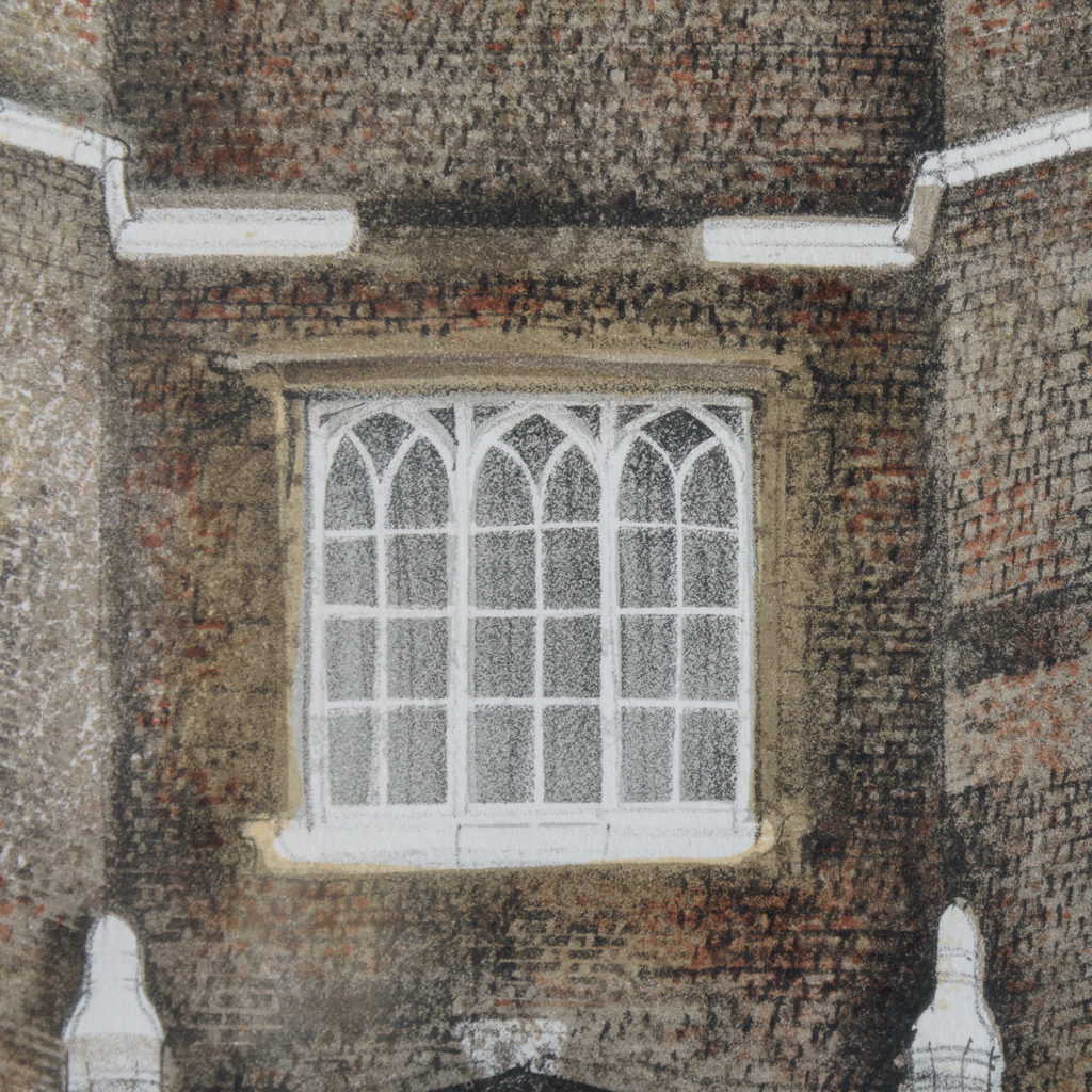 Lithograph of St. James's Palace, London, by David Gentleman-111915