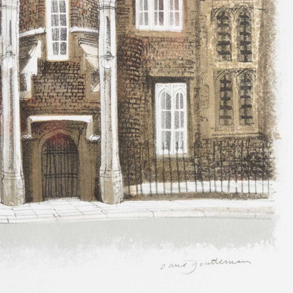 Lithograph of St. James's Palace, London, by David Gentleman-111919