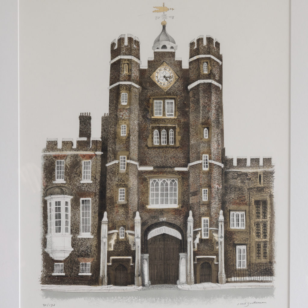 Lithograph of St. James's Palace, London, by David Gentleman-111914