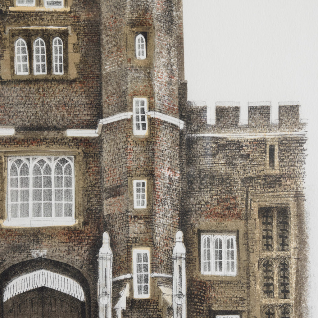 Lithograph of St. James's Palace, London, by David Gentleman-111918