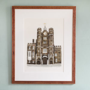 Lithograph of St. James's Palace, London, by David Gentleman