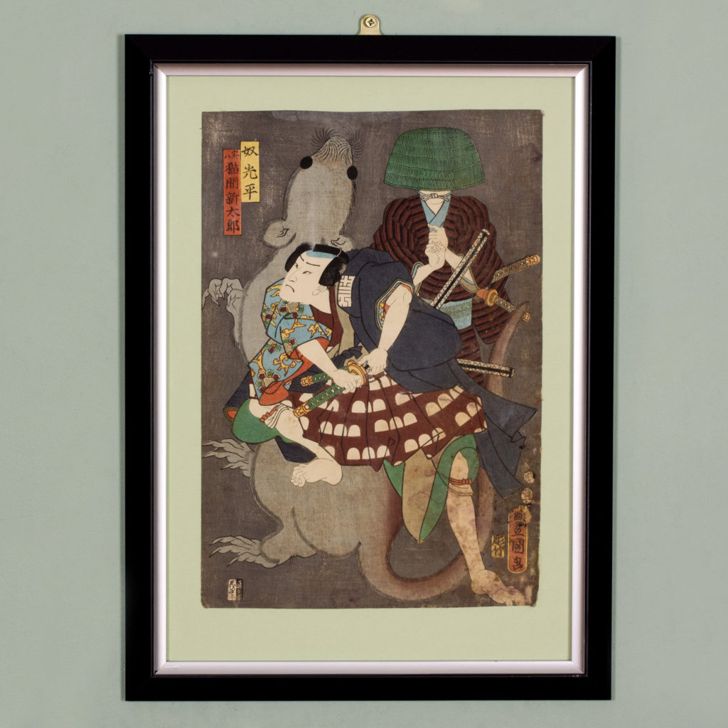 Original 19th century Japanese Ukiyo-e print-0