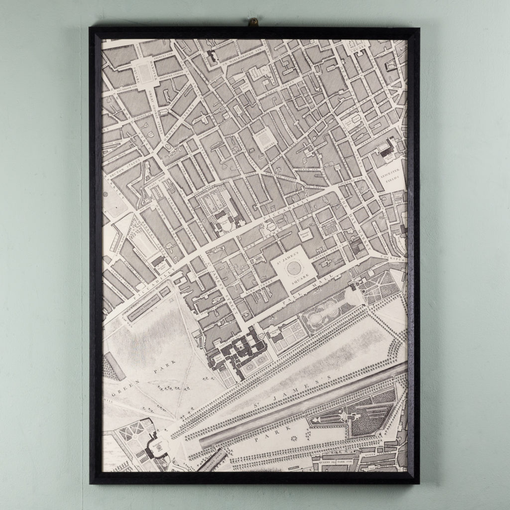 London in 1746, impressive wall map-112213