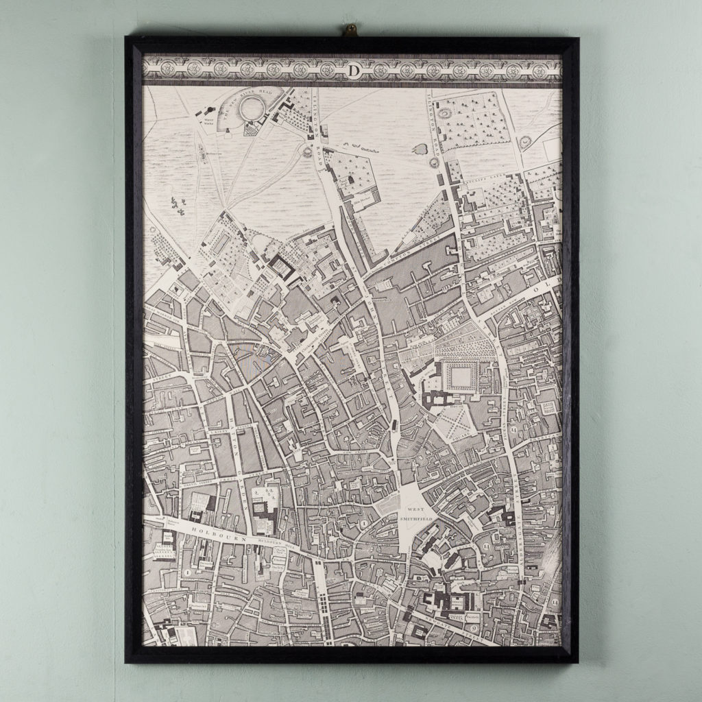 London in 1746, impressive wall map-112208