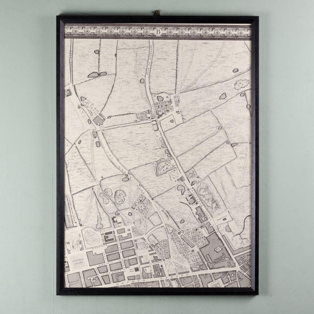 London in 1746, impressive wall map-112201