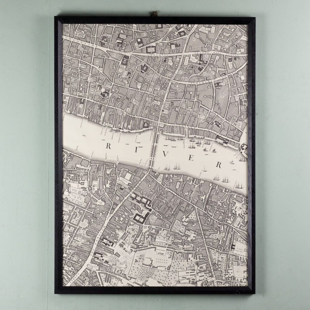 London in 1746, impressive wall map-112198