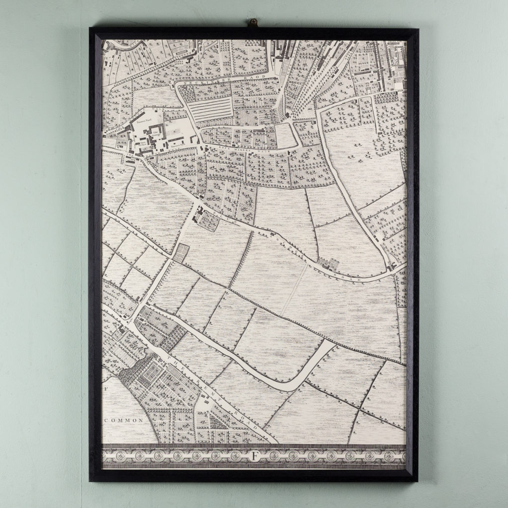 London in 1746, impressive wall map-112217