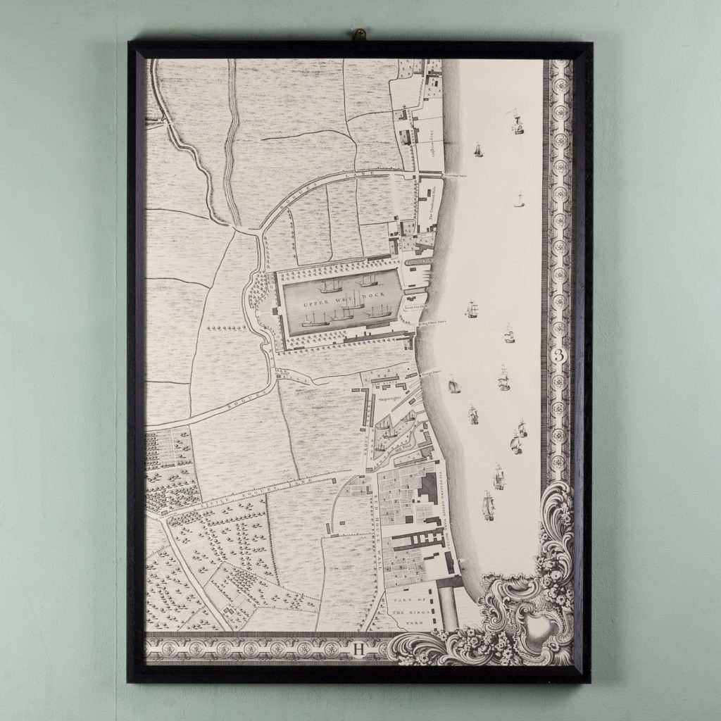 London in 1746, impressive wall map-112212