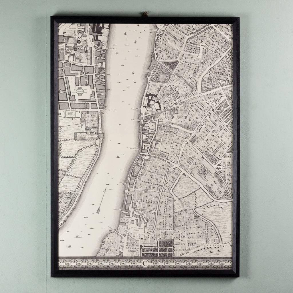 London in 1746, impressive wall map-112211