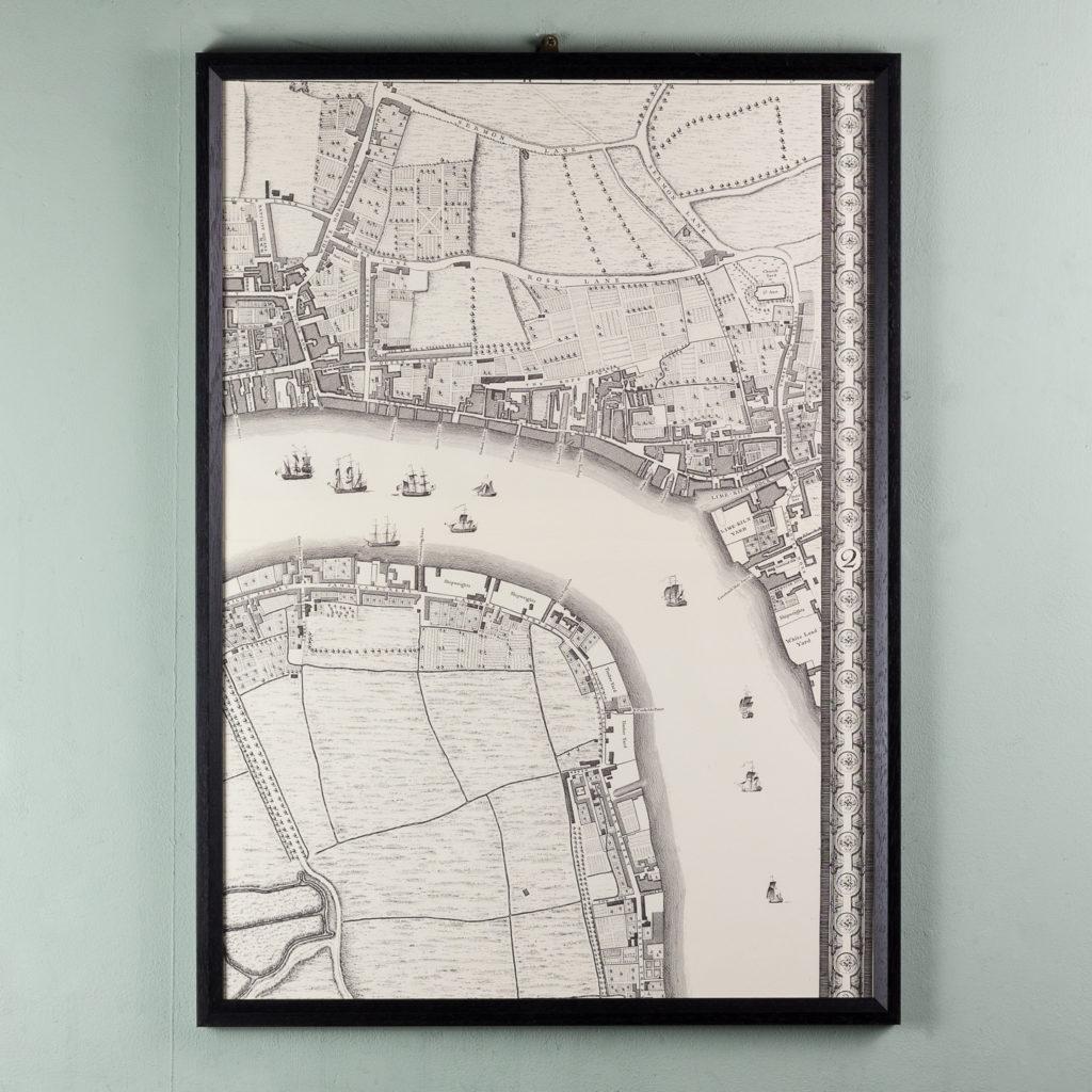 London in 1746, impressive wall map-112207