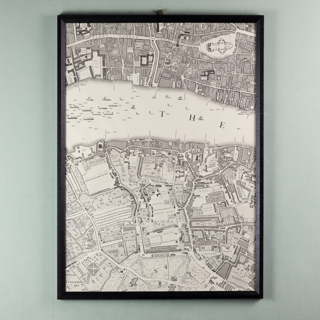 London in 1746, impressive wall map-112203