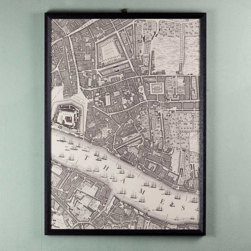 London in 1746, impressive wall map-112197