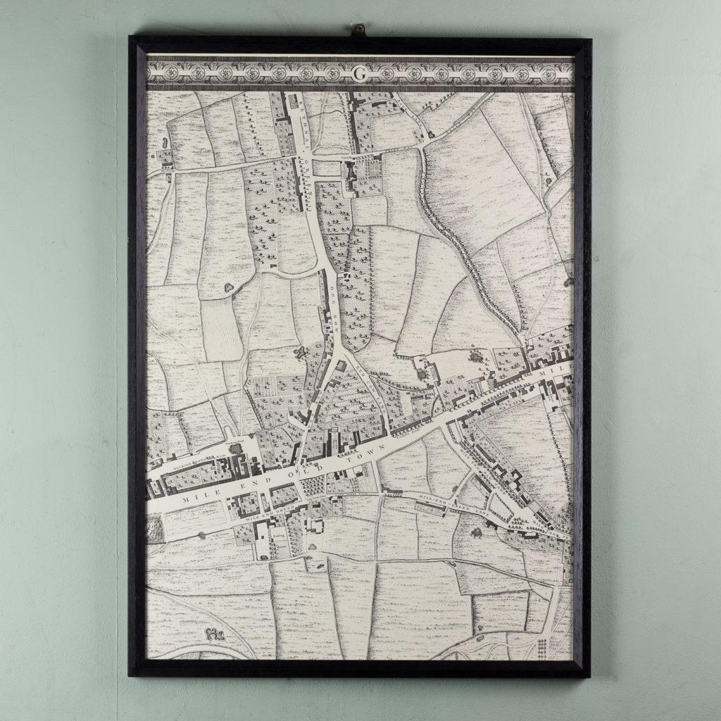 London in 1746, impressive wall map-112187