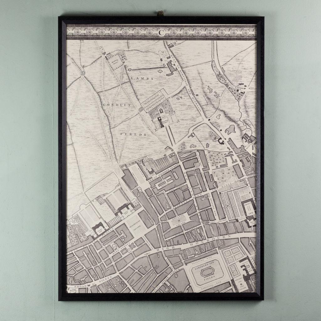 London in 1746, impressive wall map-112196