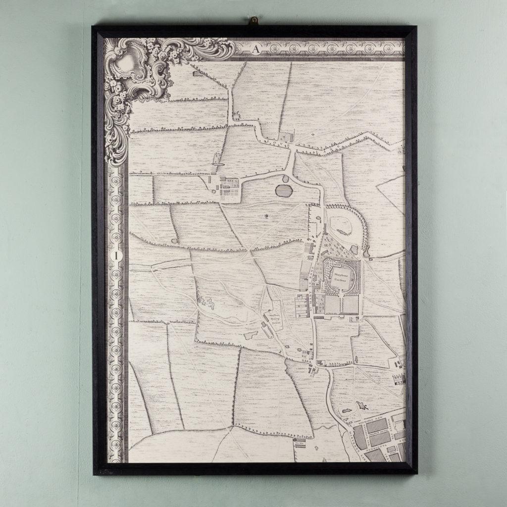 London in 1746, impressive wall map-112192
