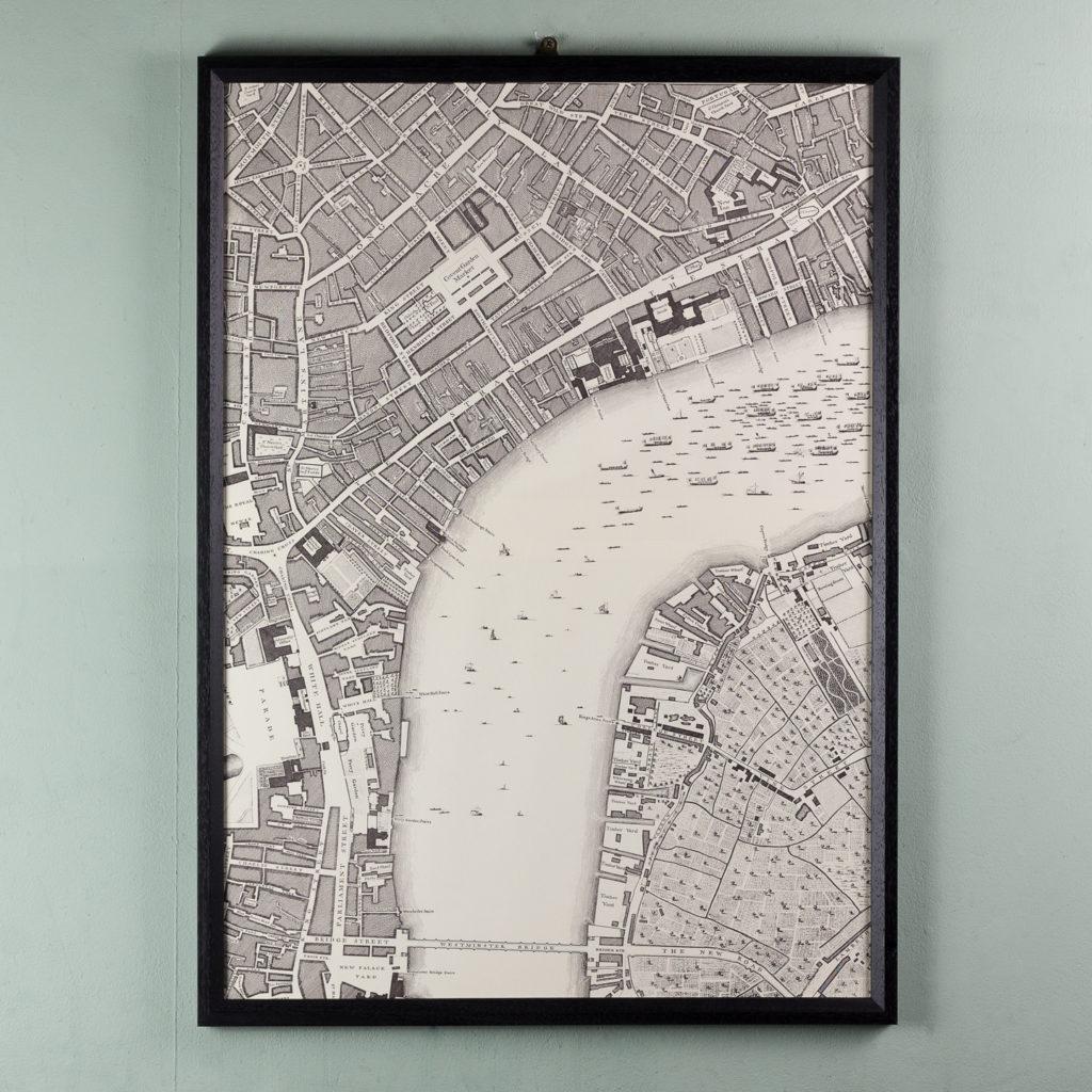 London in 1746, impressive wall map-112220