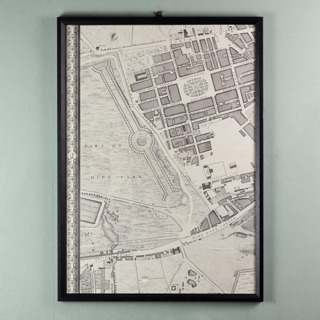 London in 1746, impressive wall map-112215