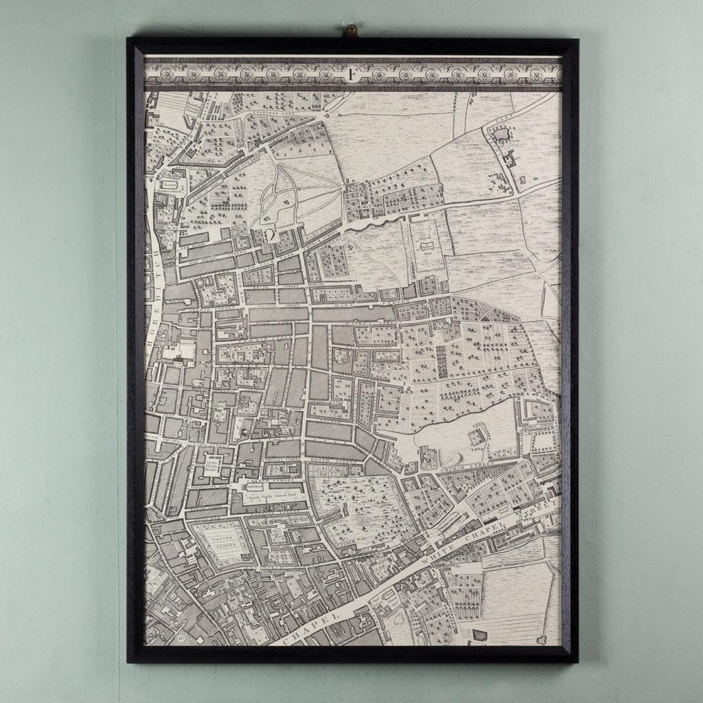 London in 1746, impressive wall map-112205