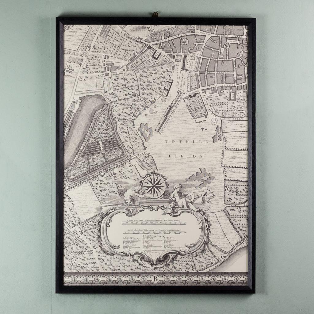 London in 1746, impressive wall map-112200