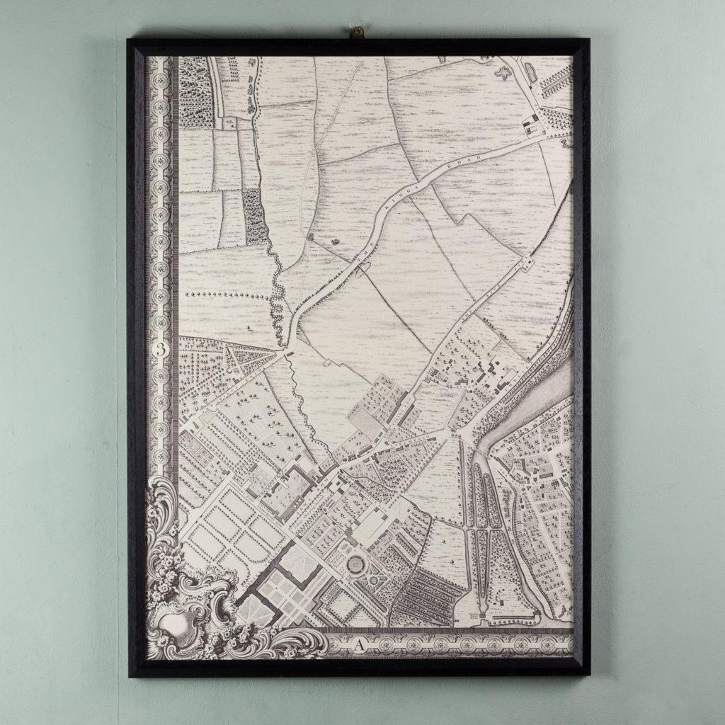 London in 1746, impressive wall map-112189
