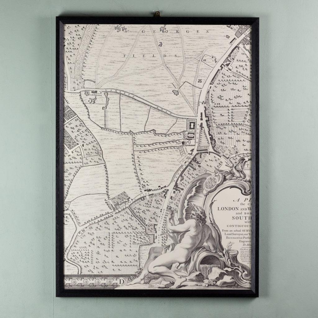 London in 1746, impressive wall map-112214