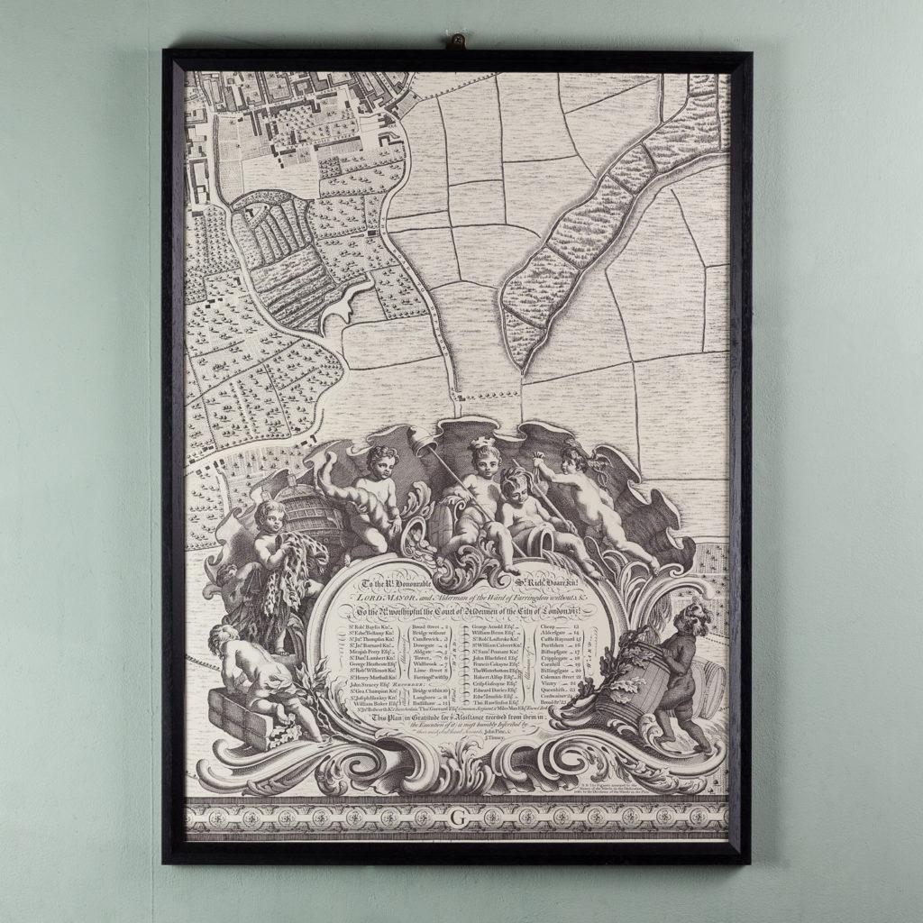 London in 1746, impressive wall map-112199