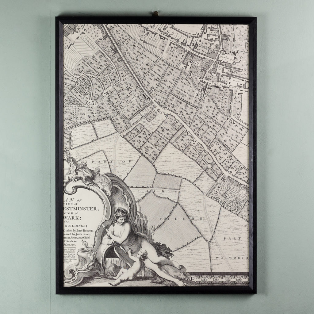 London in 1746, impressive wall map-112202