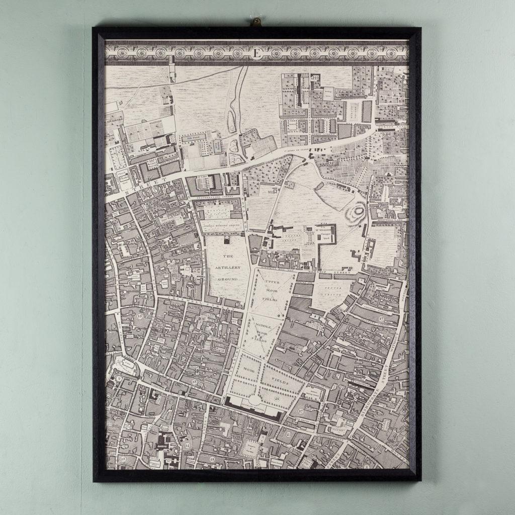 London in 1746, impressive wall map-112216