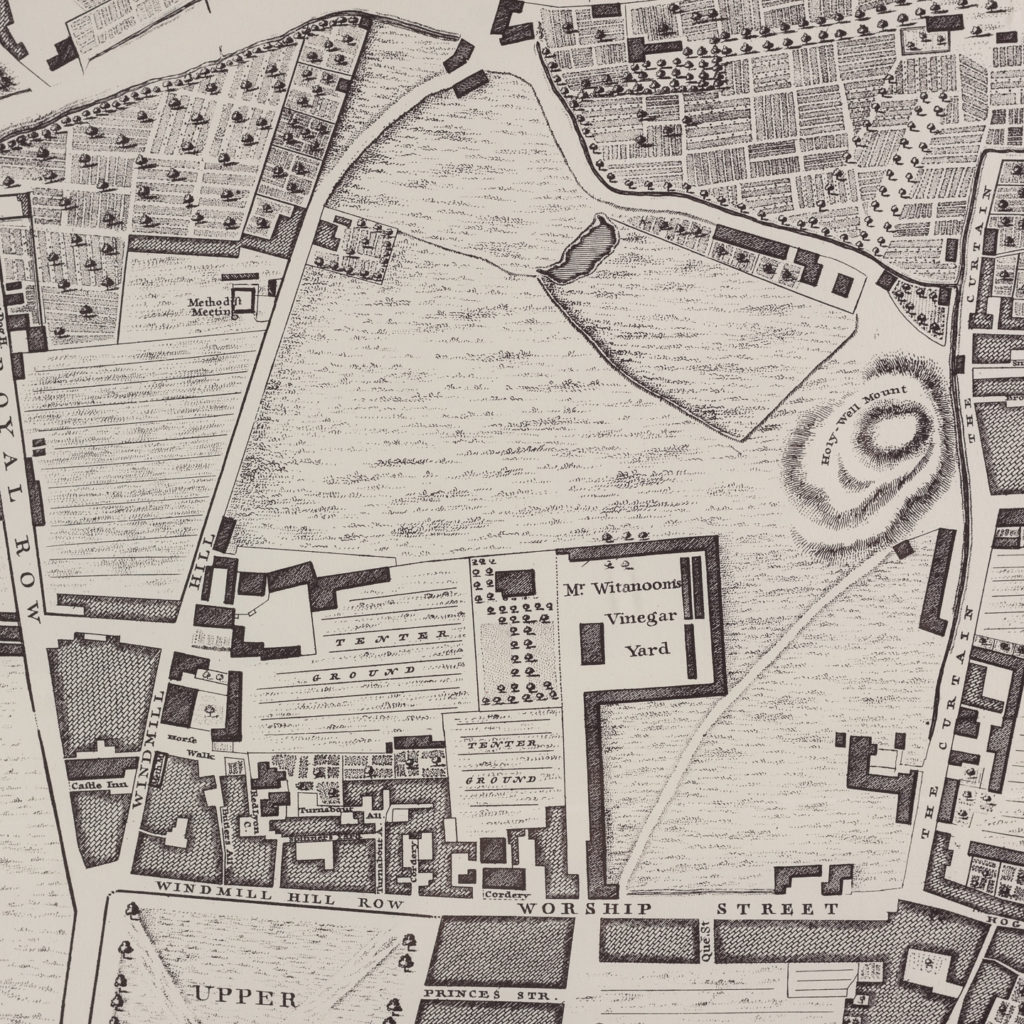 London in 1746, impressive wall map-112191