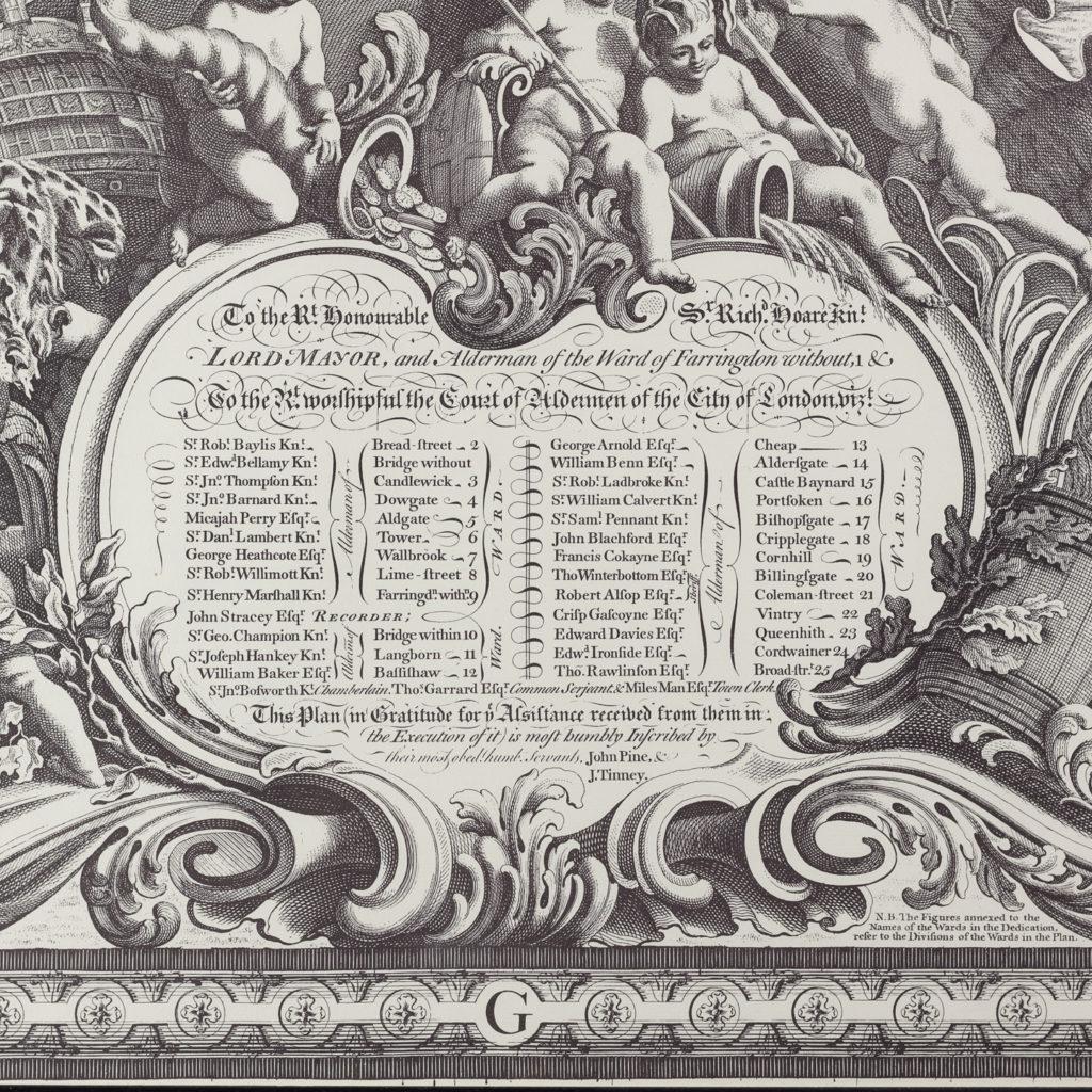 London in 1746, impressive wall map-112193