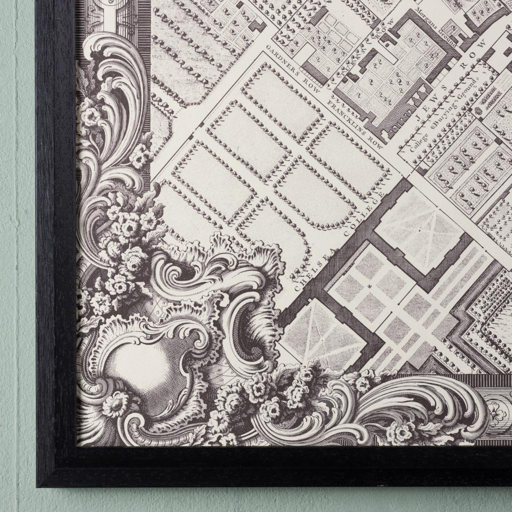 London in 1746, impressive wall map-112219
