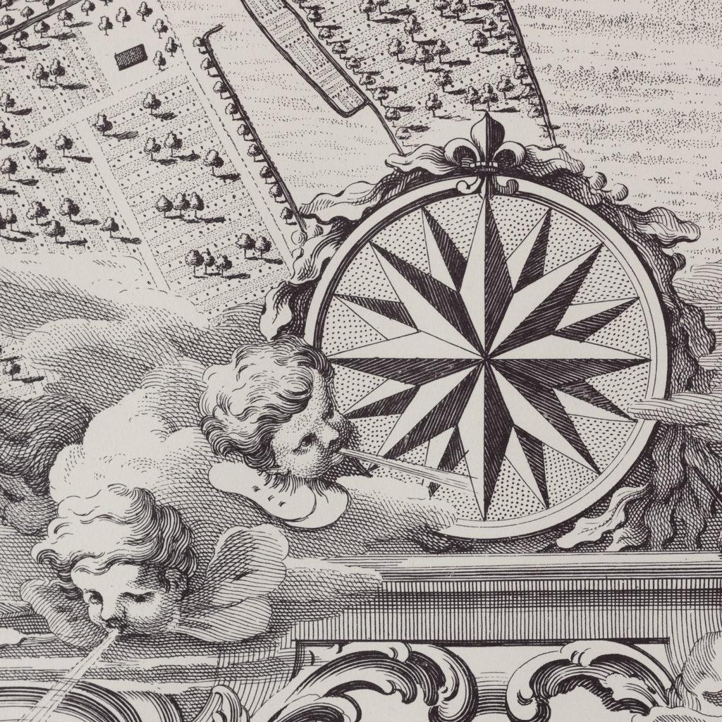 London in 1746, impressive wall map-112190