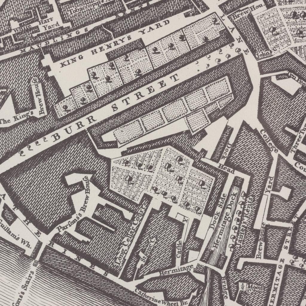 London in 1746, impressive wall map-112209