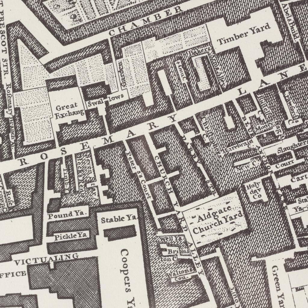 London in 1746, impressive wall map-112204