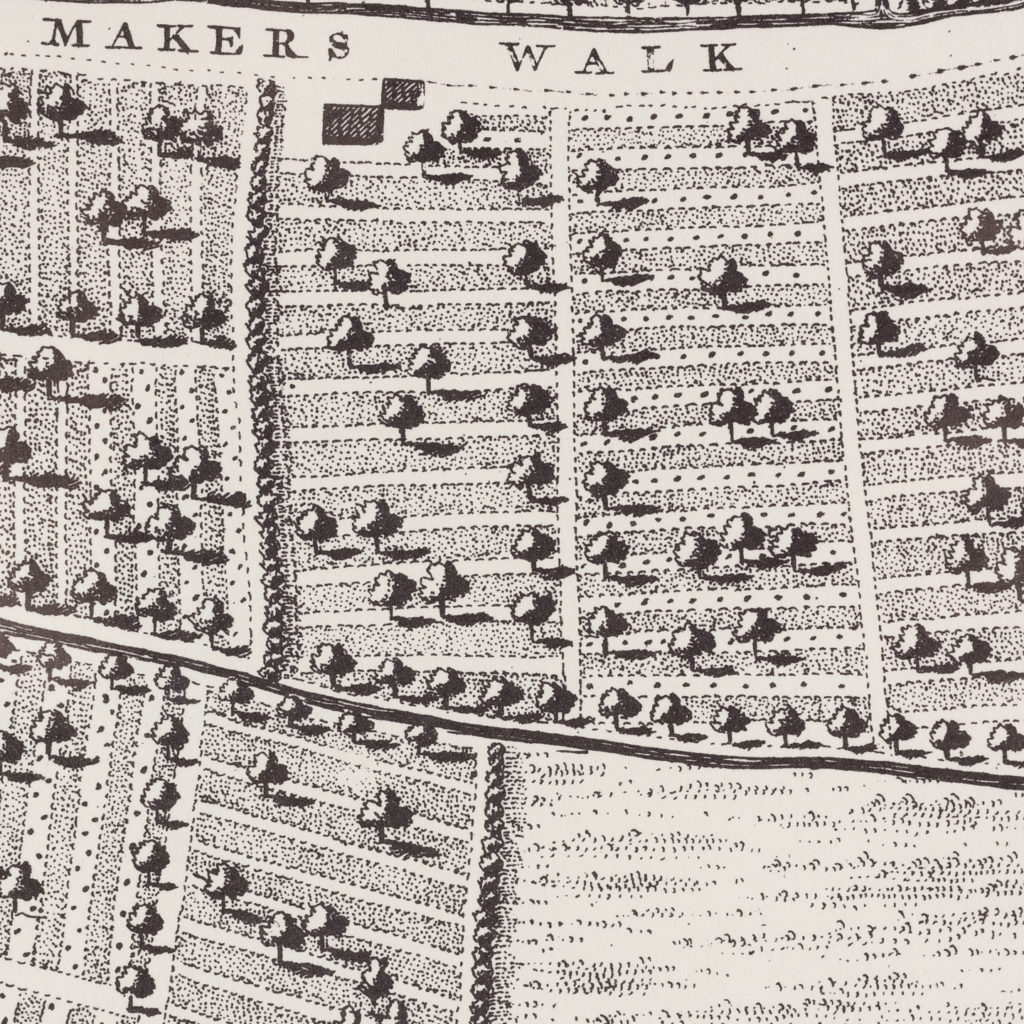 London in 1746, impressive wall map-112206