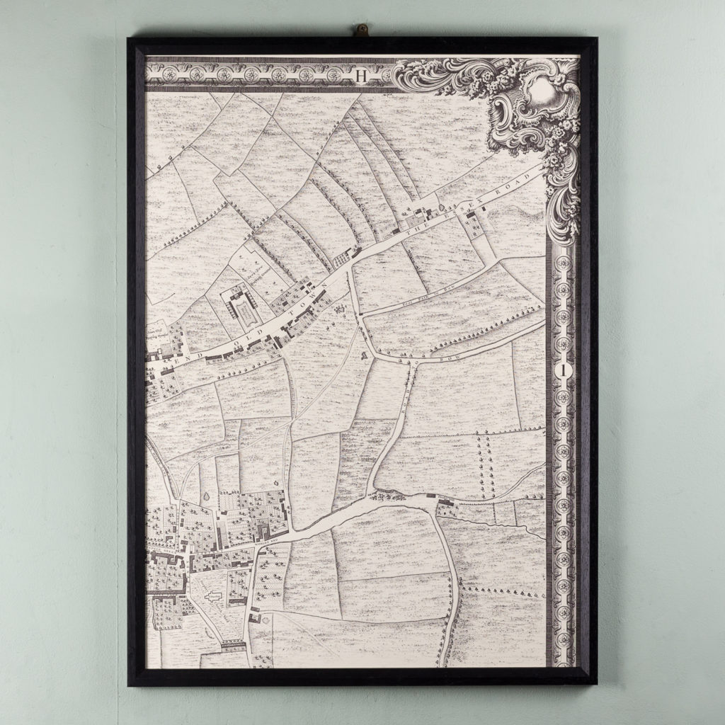 London in 1746, impressive wall map-112218