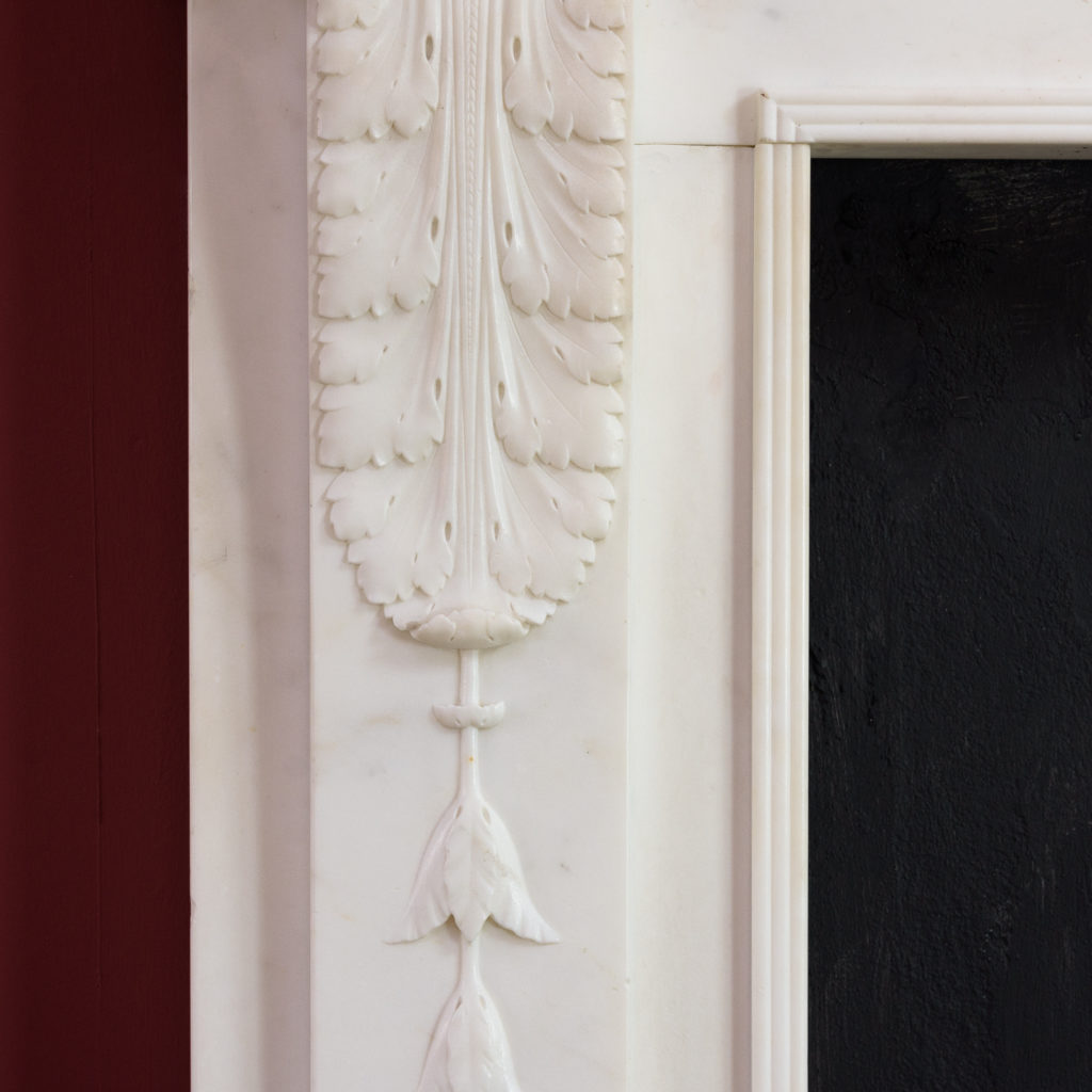 George III statuary marble fireplace,-112577
