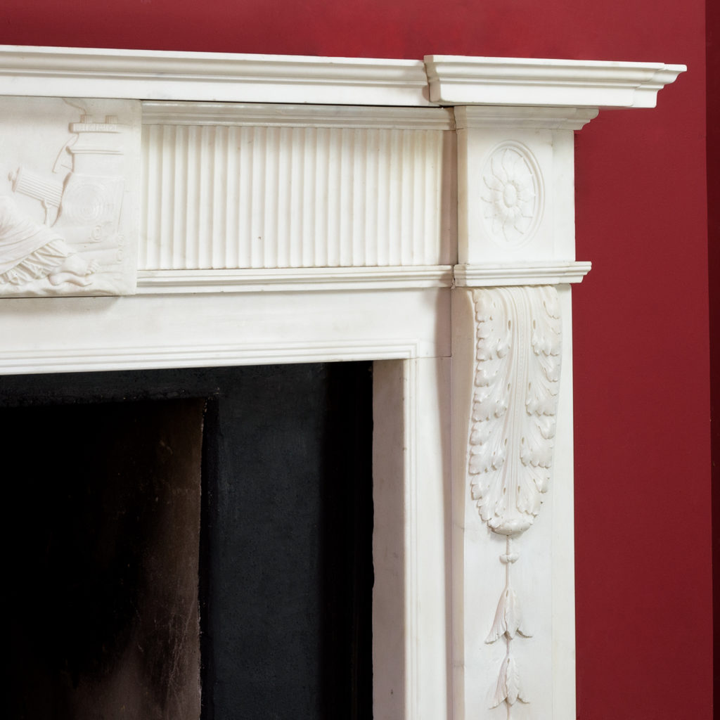 George III statuary marble fireplace,-112568
