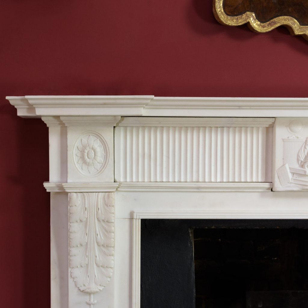 George III statuary marble fireplace,-112569