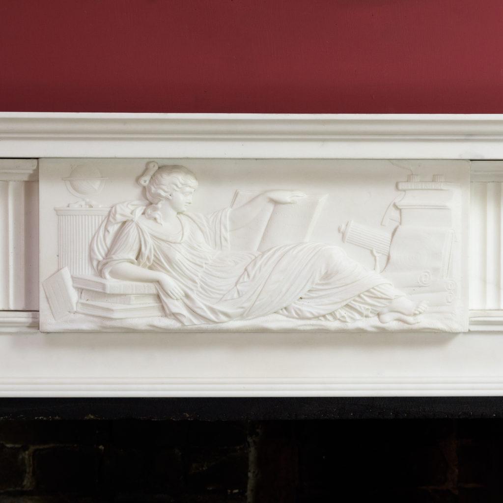 George III statuary marble fireplace,-112575