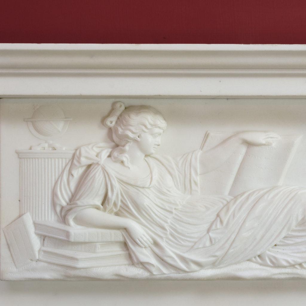 George III statuary marble fireplace,-112573