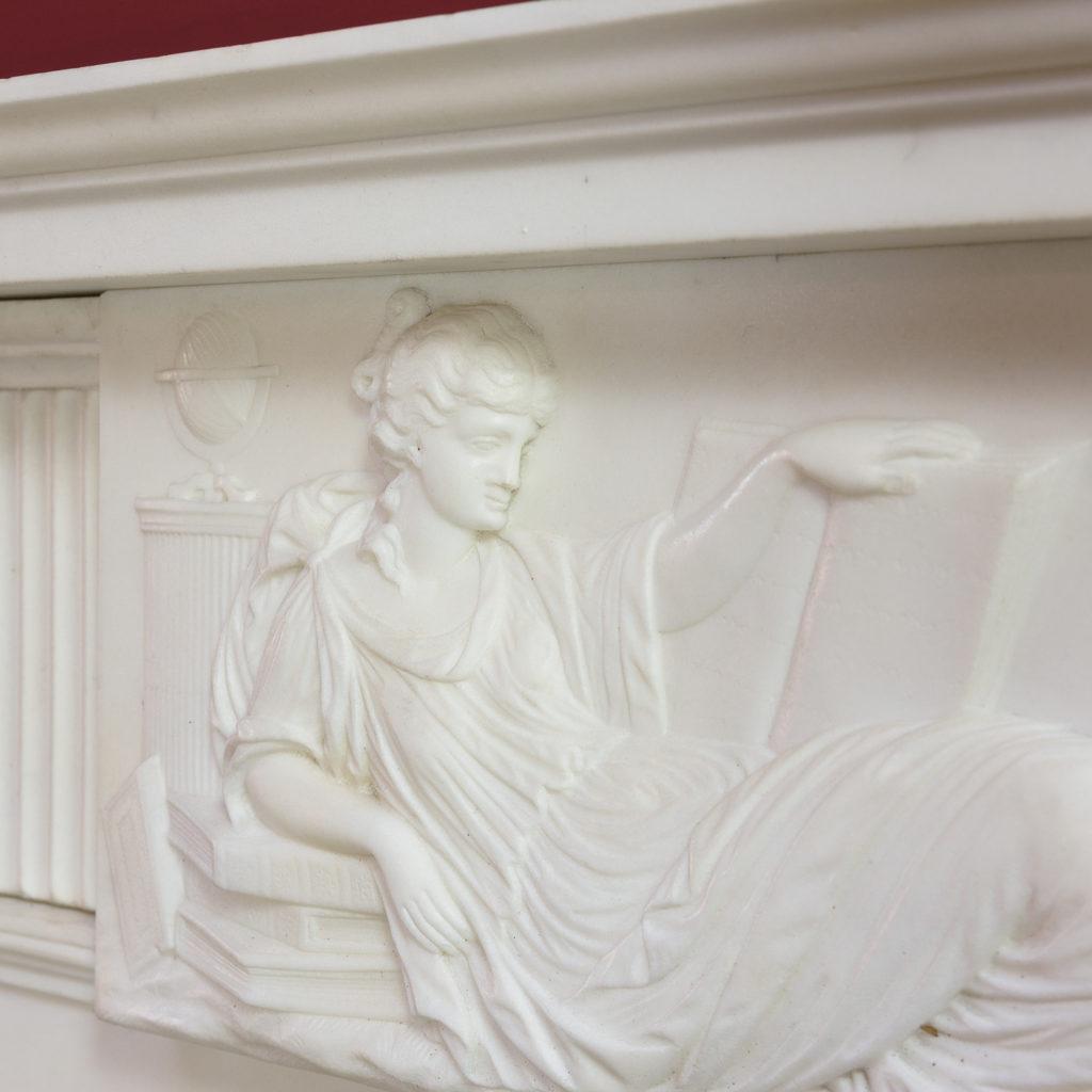 George III statuary marble fireplace,-112579