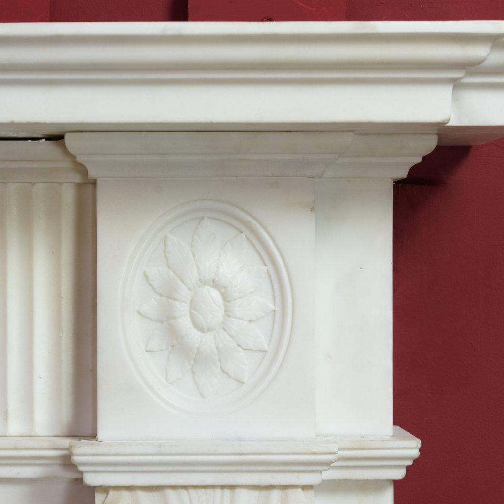 George III statuary marble fireplace,-112578
