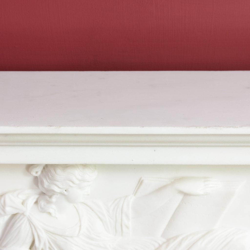 George III statuary marble fireplace,-112571
