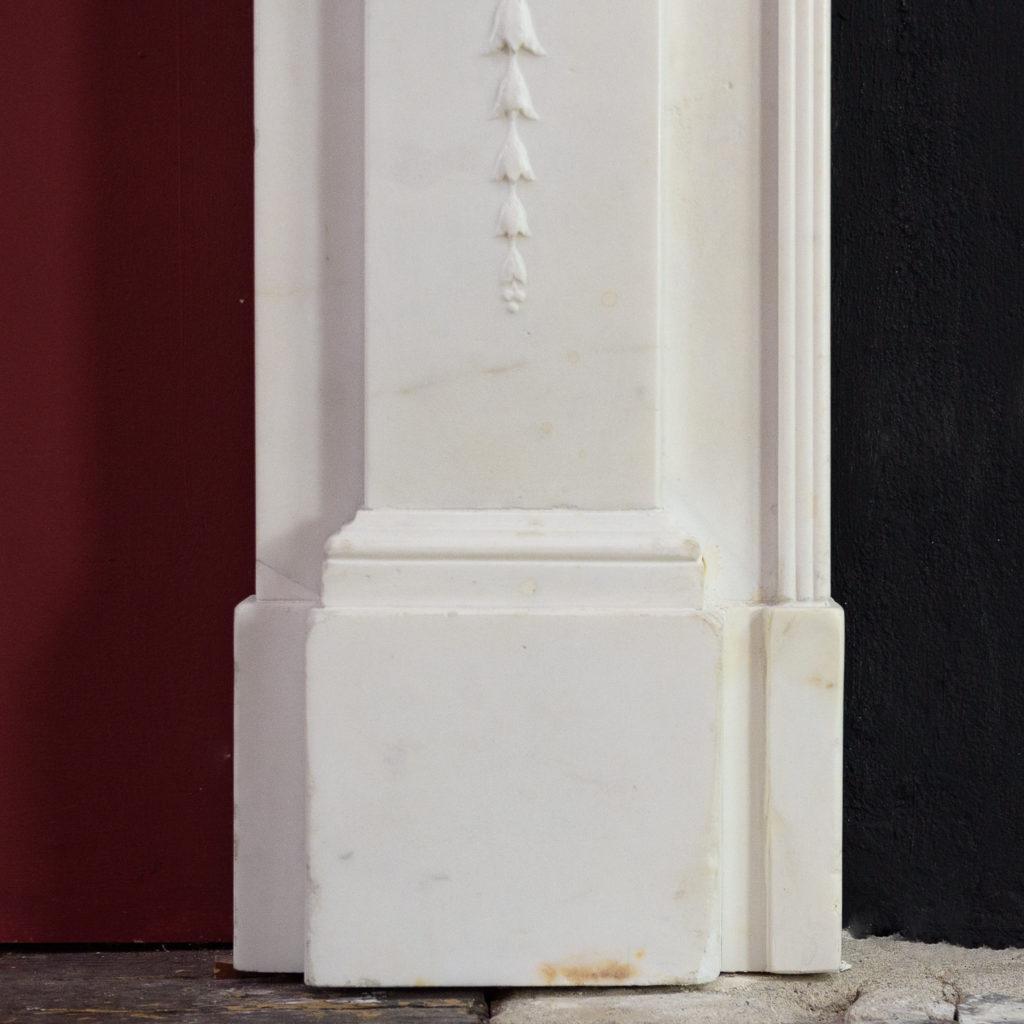George III statuary marble fireplace,-112574
