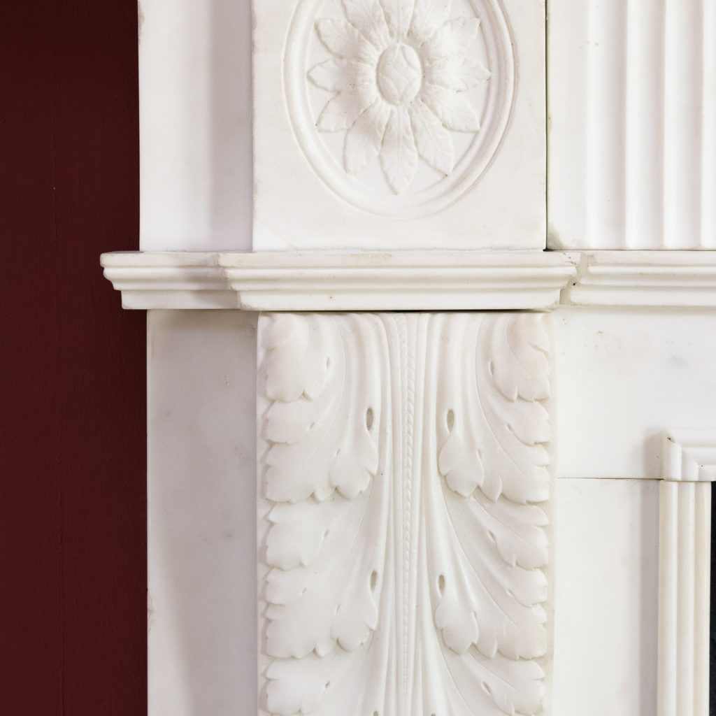 George III statuary marble fireplace,-112572