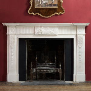 George III statuary marble fireplace,-0