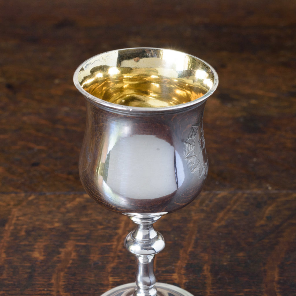 Early Victorian silver communion chalice,-112499