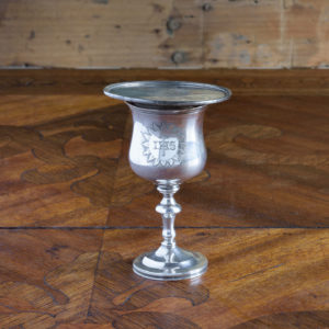 Early Victorian silver communion chalice,-0